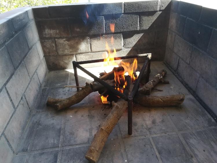 El fuego para la paella