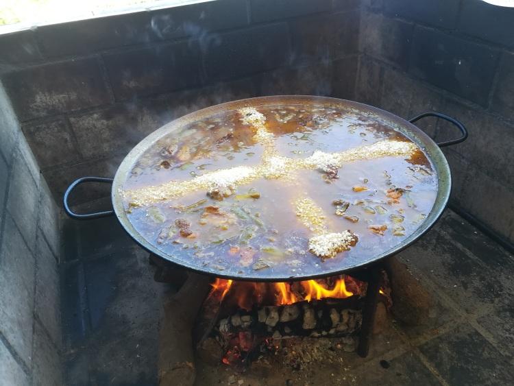 el arroz para la paella